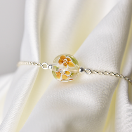 Bracelet with amber...