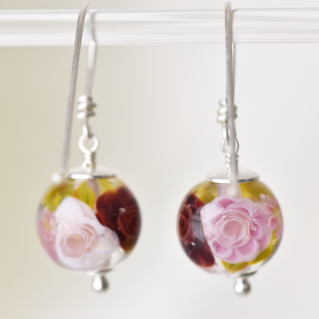 Ysée earrings with roses in...