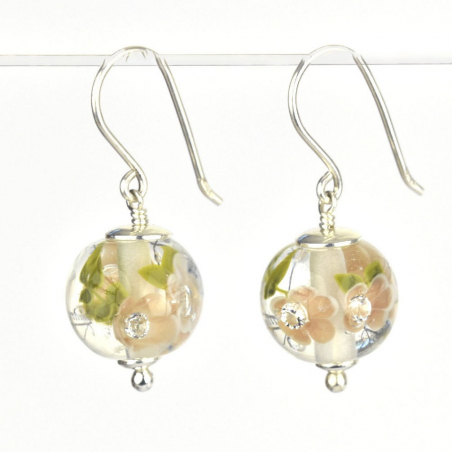 Earrings with chai flowers,...
