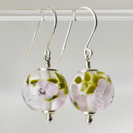 Earrings with magnolia...